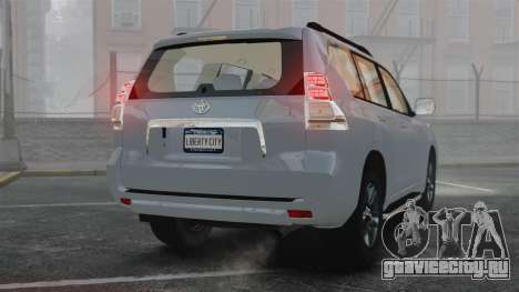Toyota Land Cruiser Prado 150 для GTA 4 вид сзади слева