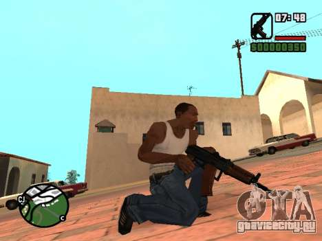 АКС-74У со сложенным прикладом для GTA San Andreas третий скриншот
