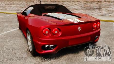 Ferrari 360 Spider 2000 [EPM] для GTA 4 вид сзади слева