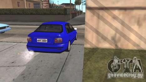 Fiat Marea Sedan для GTA San Andreas вид сзади слева