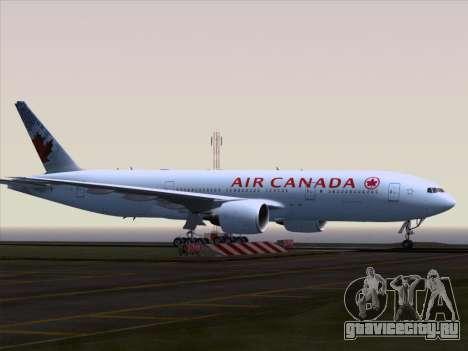 Boeing 777-200ER Air Canada для GTA San Andreas вид сзади