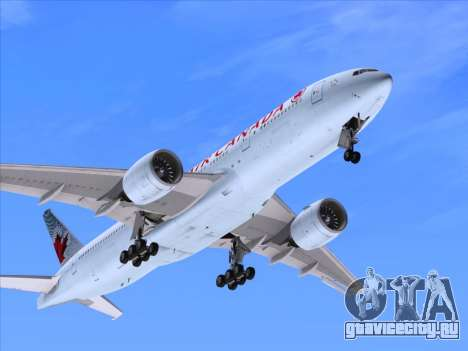 Boeing 777-200ER Air Canada для GTA San Andreas вид сверху