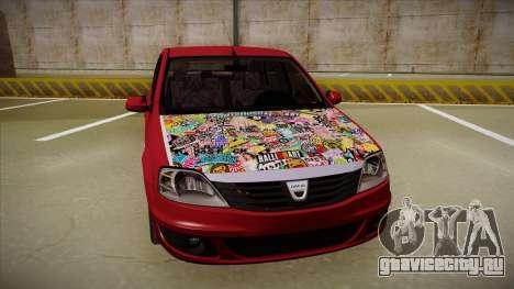 Dacia Logan Hellaflush для GTA San Andreas вид слева