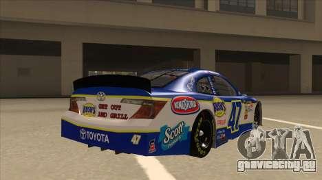 Toyota Camry NASCAR No. 47 Bushs Beans для GTA San Andreas вид справа