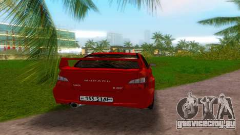 Subaru Impreza WRX STi для GTA Vice City вид сзади слева
