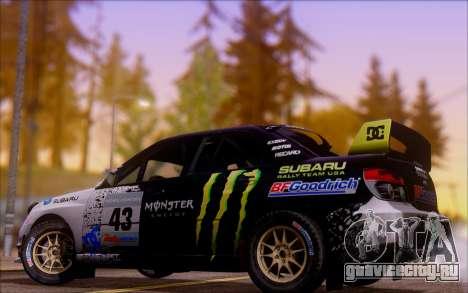 Subaru Impreza WRX STI WRC для GTA San Andreas вид сзади