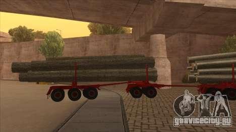 2-ой полуприцеп-лесовоз к Hayes H188 для GTA San Andreas вид сзади