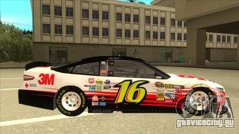 Ford Fusion NASCAR No. 16 3M Bondo для GTA San Andreas вид сзади слева