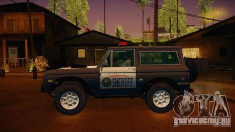 Ford Bronco 1966 Sheriff для GTA San Andreas вид слева