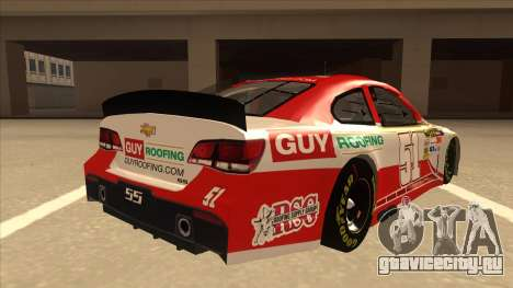 Chevrolet SS NASCAR No. 51 Guy Roofing для GTA San Andreas вид справа