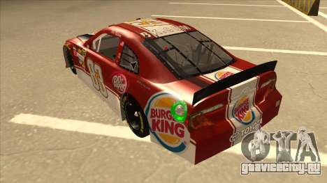 Toyota Camry NASCAR No. 83 Burger King Dr Pepper для GTA San Andreas вид сзади