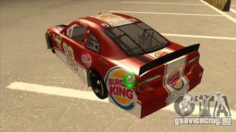 Toyota Camry NASCAR No. 83 Burger King Dr Pepper для GTA San Andreas вид сзади