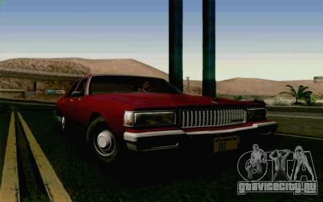 Chevrolet Caprice 1987 для GTA San Andreas вид сзади