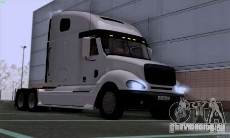 Freightliner Columbia для GTA San Andreas вид сзади слева