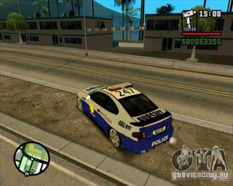 Pontiac GTO Pursit Edition для GTA San Andreas вид справа