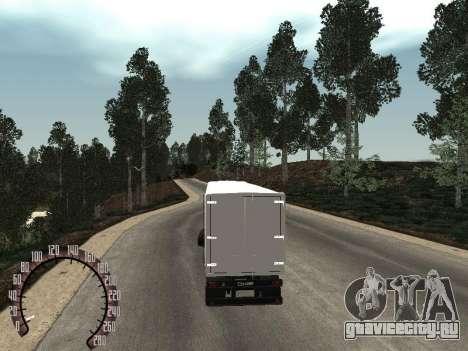 Прицеп НефАЗ 93344 снежка для GTA San Andreas вид сзади слева