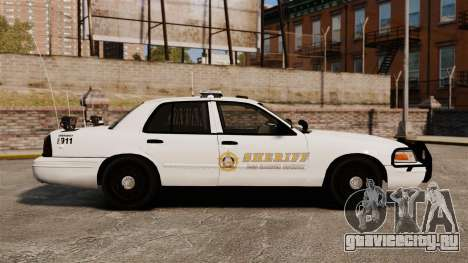 GTA V sheriff car [ELS] для GTA 4 вид слева