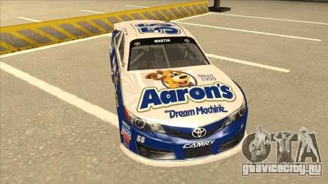 Toyota Camry NASCAR No. 55 Aarons DM blue-white для GTA San Andreas вид слева