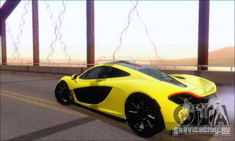 McLaren P1 EPM для GTA San Andreas вид сзади слева