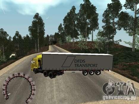 Прицеп для КамАЗ 54115 для GTA San Andreas вид сзади слева