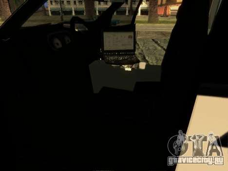 Ford Explorer 2010 Police Interceptor для GTA San Andreas вид изнутри