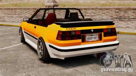 Кабриолет версия Futo для GTA 4 вид сзади слева