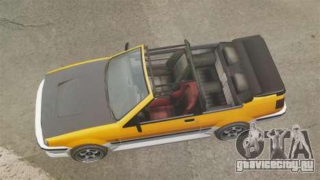 Кабриолет версия Futo для GTA 4 вид справа