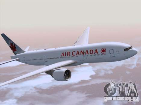 Boeing 777-200ER Air Canada для GTA San Andreas вид изнутри