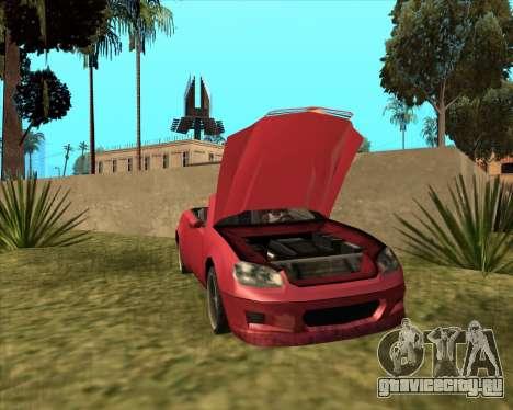 Benefactor Feltzer из GTA 4 для GTA San Andreas вид сзади слева