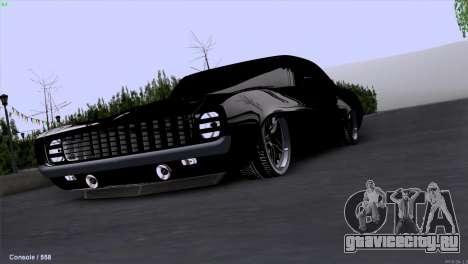Chevrolet Camaro 1969 Pro Sport для GTA San Andreas