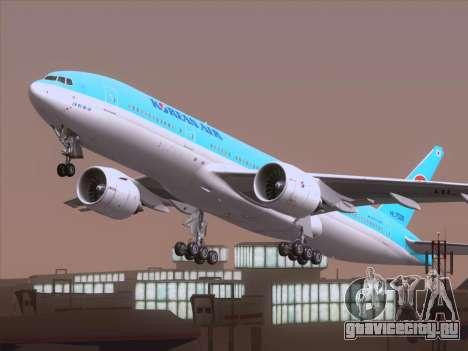 Boeing 777-2B5ER Korean Air для GTA San Andreas вид сбоку