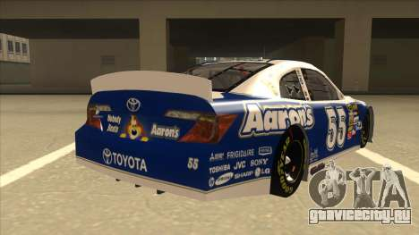 Toyota Camry NASCAR No. 55 Aarons DM blue-white для GTA San Andreas вид справа