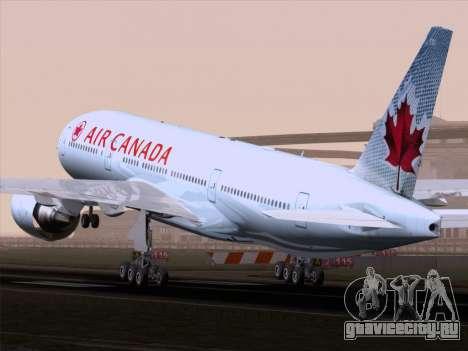 Boeing 777-200ER Air Canada для GTA San Andreas вид справа