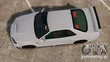 Nissan Skyline R34 GT-R NISMO Z-tune для GTA 4 вид справа