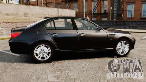 BMW M5 E60 Metropolitan Police Unmarked [ELS] для GTA 4 вид слева