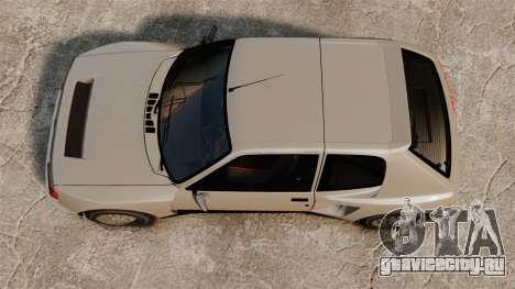 Peugeot 205 Turbo 16 для GTA 4 вид справа