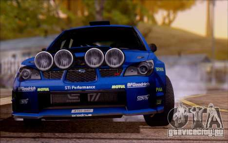 Subaru Impreza WRX STI WRC для GTA San Andreas вид справа