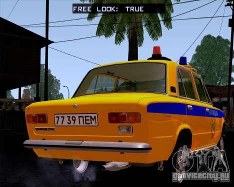ВАЗ 21011 Милиция для GTA San Andreas вид слева