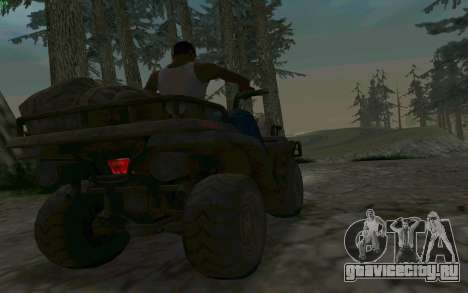 ATV из Medal of Honor для GTA San Andreas вид изнутри