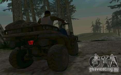 ATV из Medal of Honor для GTA San Andreas вид изнутри