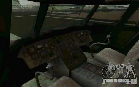 MH-47 для GTA San Andreas вид изнутри