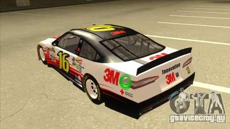 Ford Fusion NASCAR No. 16 3M Bondo для GTA San Andreas вид сзади