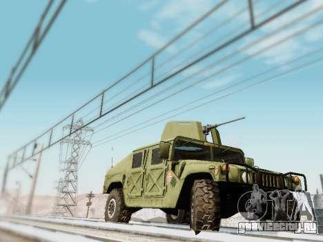 Humvee Serbian Army для GTA San Andreas вид сзади слева