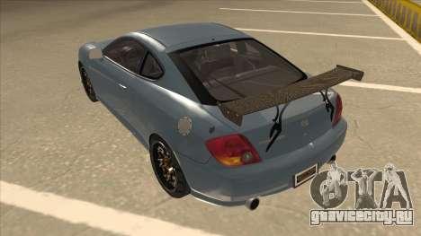 Hyundai Coupe V6 Soft Tuned v1 для GTA San Andreas вид сзади