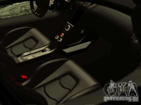 McLaren MP4-12C WheelsAndMore для GTA San Andreas салон