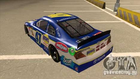 Toyota Camry NASCAR No. 47 Bushs Beans для GTA San Andreas вид сзади