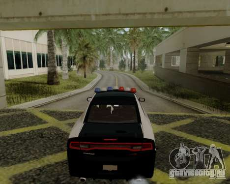 Dodge Charger 2012 Police IVF для GTA San Andreas вид сзади слева