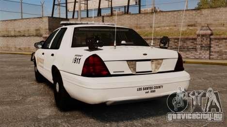 GTA V sheriff car [ELS] для GTA 4 вид сзади слева