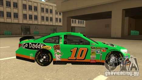Chevrolet SS NASCAR No. 10 Go Daddy для GTA San Andreas вид сзади слева