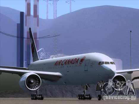 Boeing 777-200ER Air Canada для GTA San Andreas вид слева